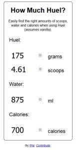 Capture du site How Much Huel?