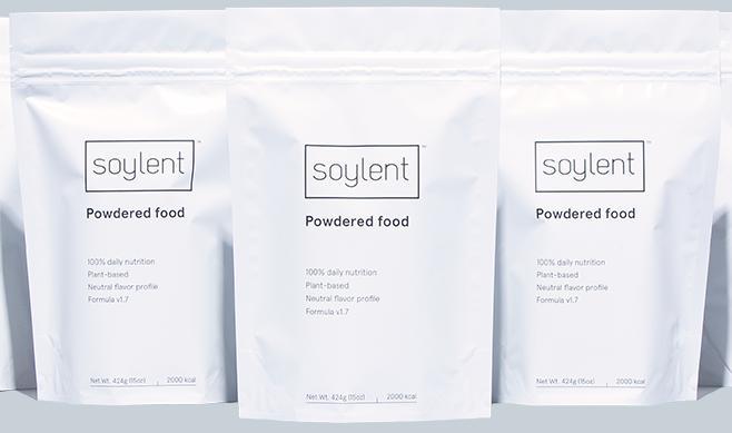 Sachets de Soylent 1.7 (crédit : soylent.com)