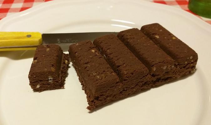 La barre Feed au chocolat