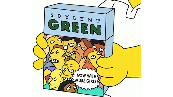 Soylent Green, vu par les Simpsons.
