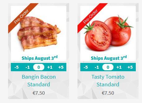 Les nouveaux parfums Queal : Bacon et Tomate