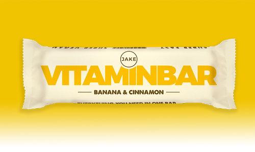 La barre Vitaminbar de Jake, parfum banane-cannelle