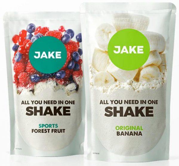 Les deux nouvelles saveur Jake, Fruits des bois et banane.
