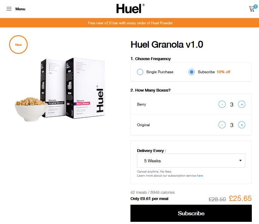 Muesli Huel Granola : tellement accroc que je viens de m'y abonner !