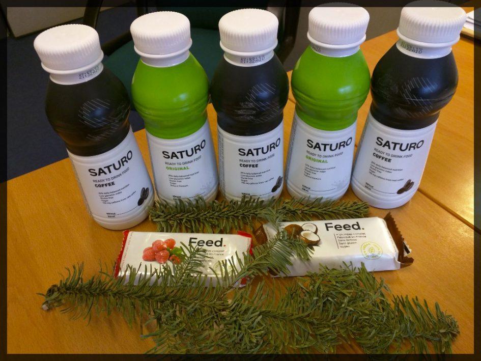 Combo liquide + solide, avec Saturo et barres Feed cette semaine !