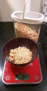 La pesée du Granola