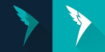 Le nouveau logo Queal, juste une aile. Vitesse et légèreté.