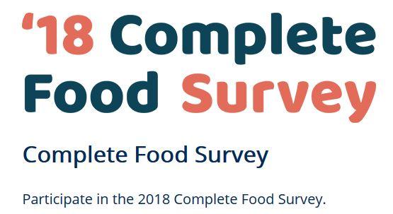 Annonce de l'enquête Complete Food 2018