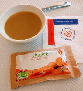 Rien de tel qu'une barre Vitaline pour se retaper après un don du sang.